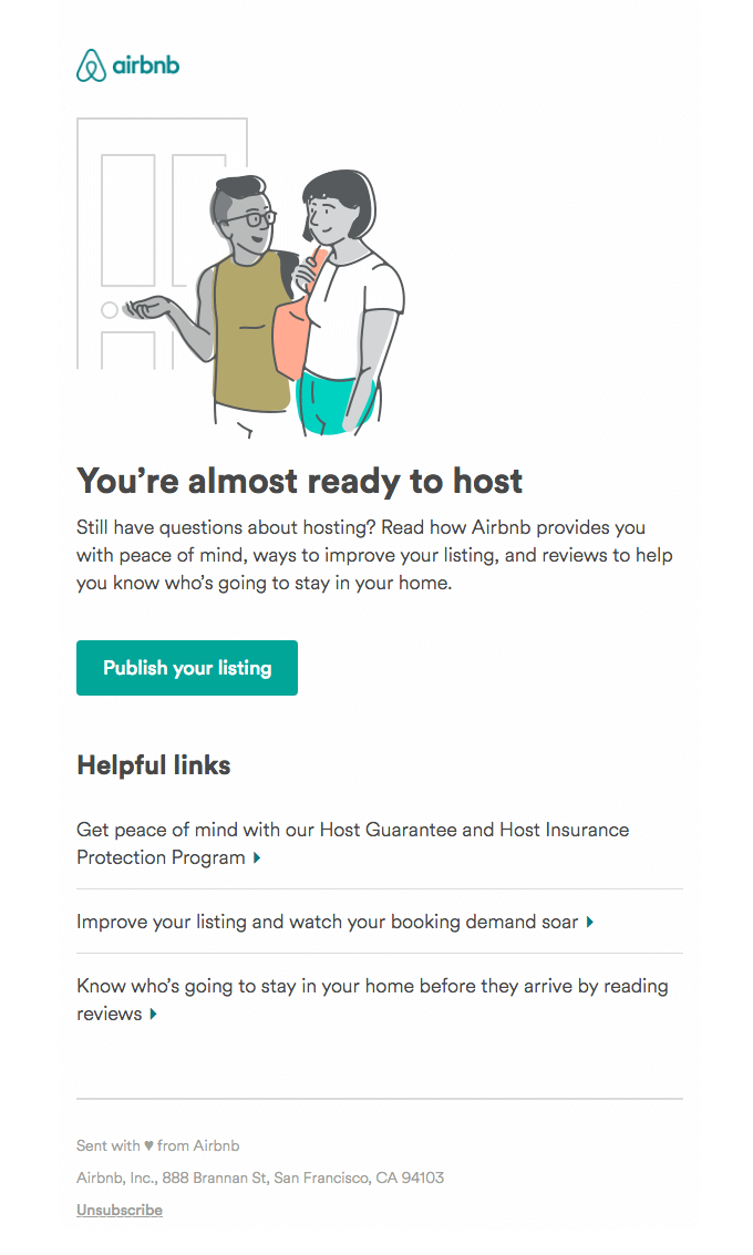 airbnb onboarding email examples