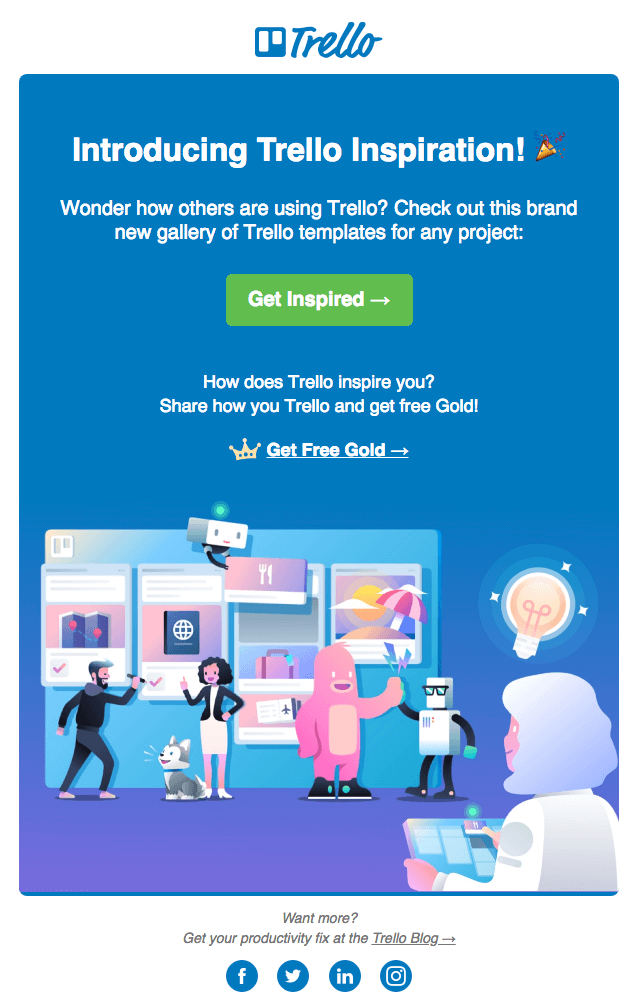 email marketing inspiration Trello