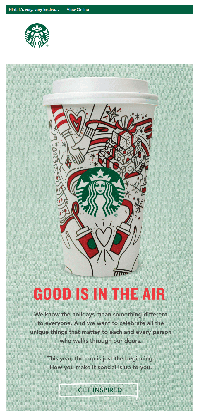 starbucks email example