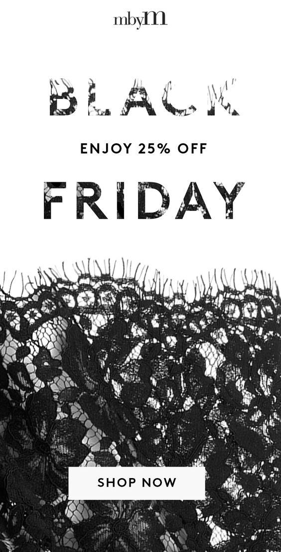 mbyM Black Friday email example inspiration