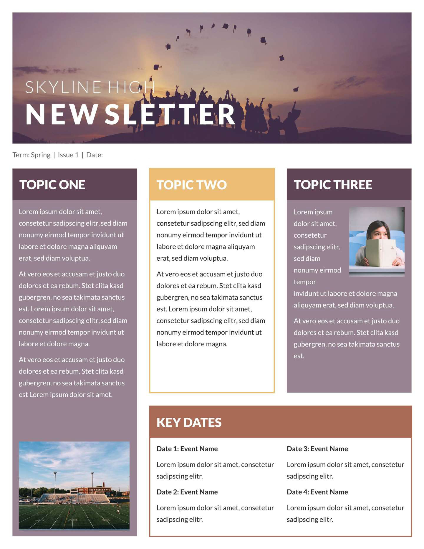 Employee newsletter template example