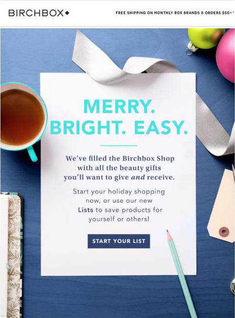 email design example by Birchbox