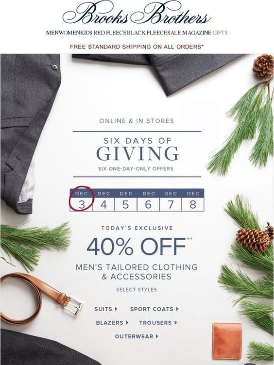 brooks brothers december email