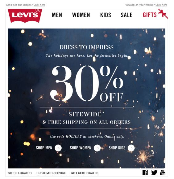Levi's December email