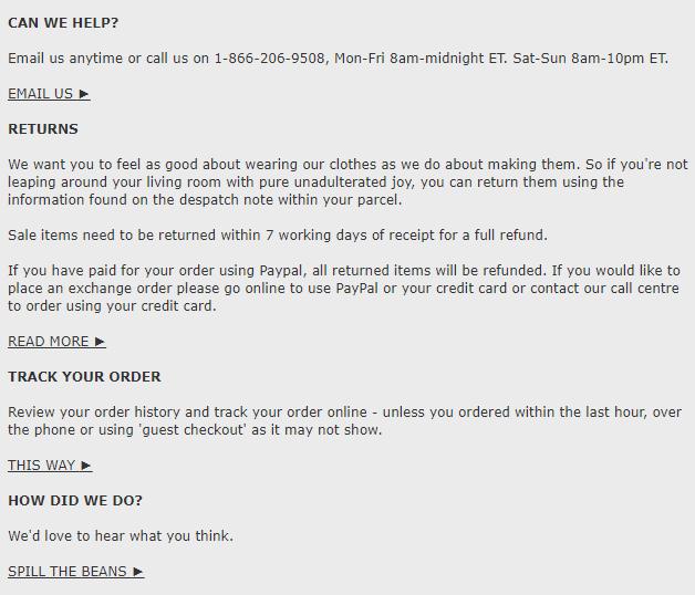 order confirmation emails Boden
