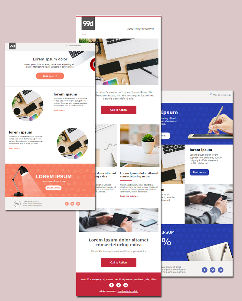 MailChimp templates by 99designs 3