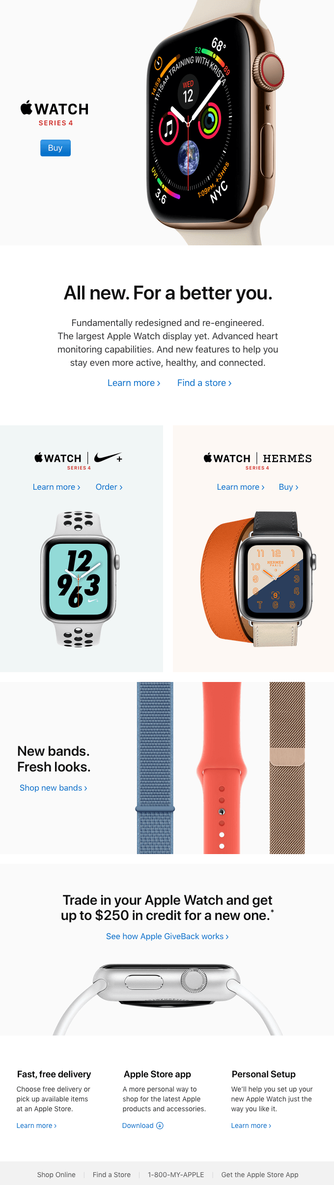 email design trends 2019 apple-watch-series-4-is-here