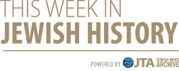 This Week in Jewish History banner