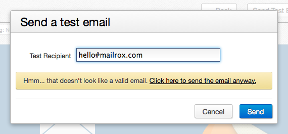 Little details: Usability and not worrying about regex email ...