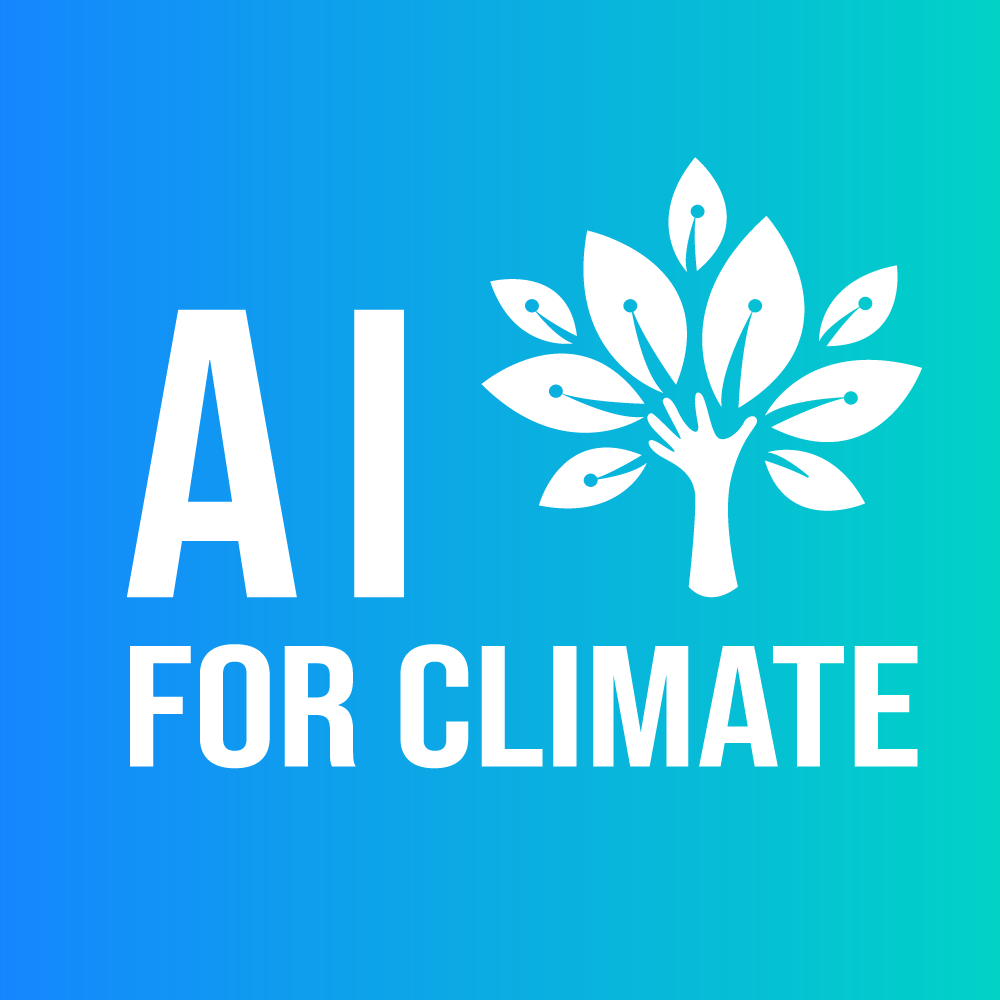 Logo ai for climate white over color
