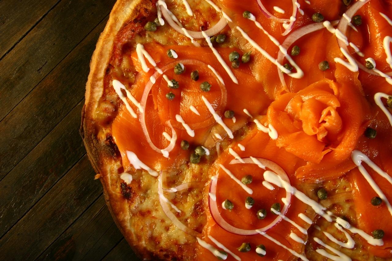 Pizza maizerets saumon fume