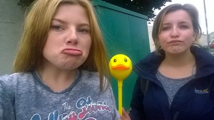My sister, Dick van Duck and I✌