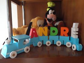 Trenzinho em madeira Wooden Train toy