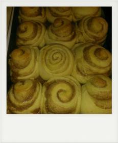 Texas size cinnamon rolls