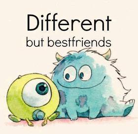 Different but bestfriends.. <3