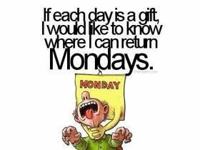 Monday=Zzzzzz
