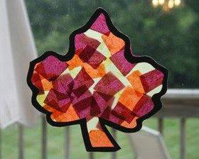 Autumn Leaf Suncatcher