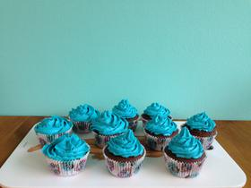 Blue frost cupcakes 🍦