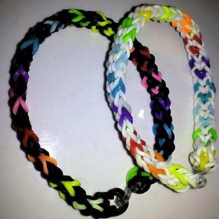 Rainbows loomband and bracellet