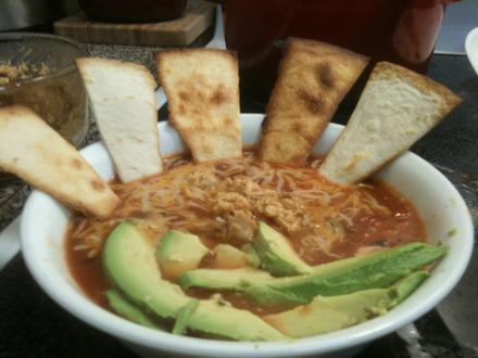 Semi homemade tortilla soup