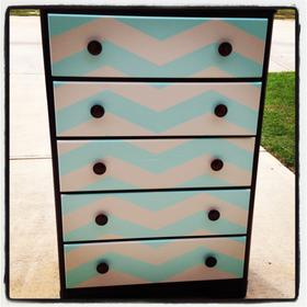 Chevron striped Dresser