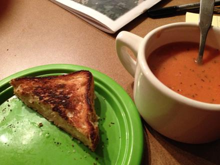"Grilled ""cheese"" and nomato soup!"