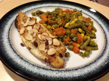 Easy Almond Tilapia Dijon