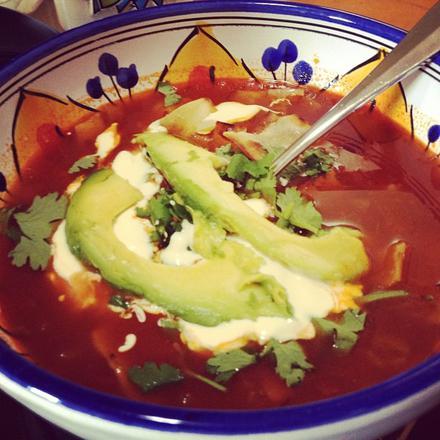 Tortilla Soup // Sopa de Tortilla