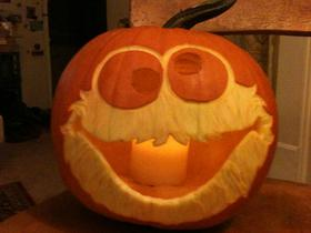 Cookie monster pumpkin 2011