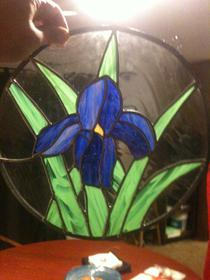 Ingersall Iris - stained glass