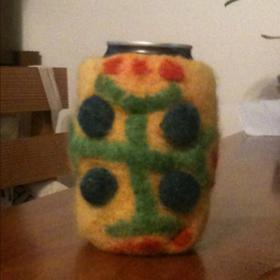 Felted Beer Cozy