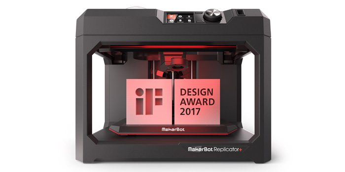 Makerbot replicator 3d printer wins prestigious if design 3d printer design software
