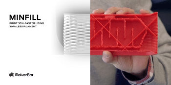 Introducing MakerBot MinFill: Print 30% Faster Using 30% Less Filament