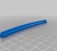Lego train track straight 3D models for 3D printing | makexyz com