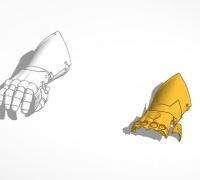Short gauntlet 3D models for 3D printing | makexyz com