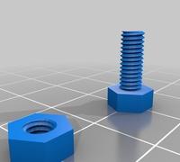 Screw library 3D models for 3D printing | makexyz com