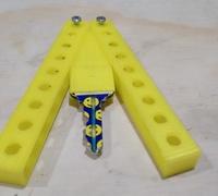 Butterfly knife 3D models for 3D printing   makexyz com