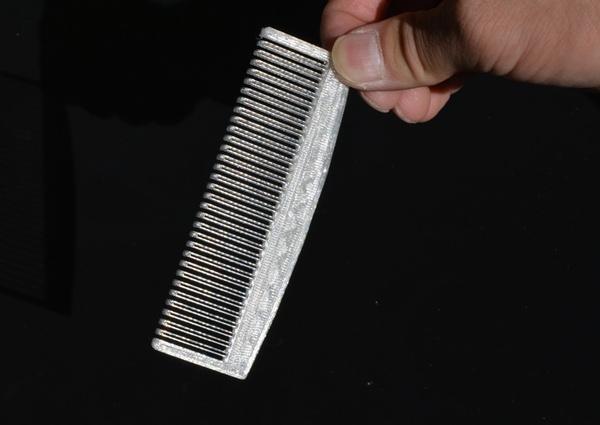 3d Printed Comb In White Pla Makexyz Com