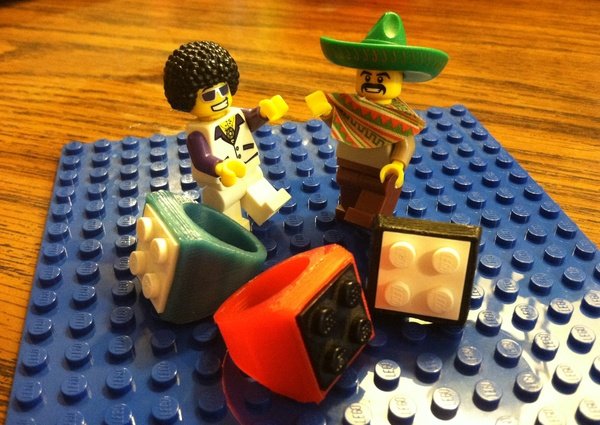 3d printed lego ring custom size - Where can i buy a 3d printed house ...