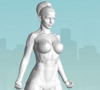 Figure nude 3D models for 3D printing | makexyz com