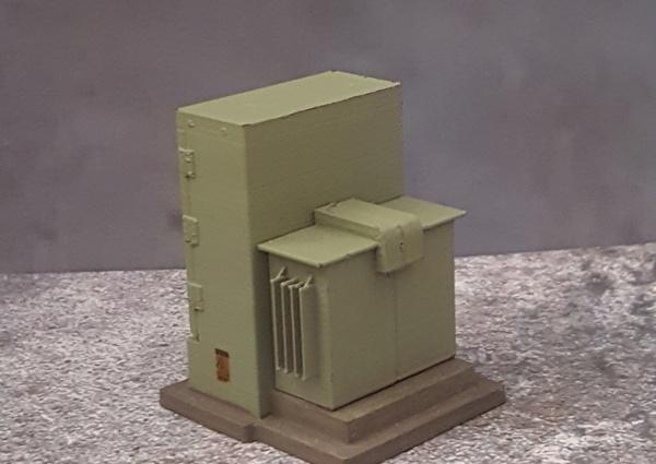 1/24 Scale Diorama Electrical Transformer Miniature Model Railroad
