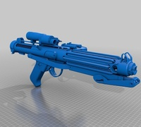 Stormtrooper e 11 blaster rifle 3D models for 3D printing | makexyz com