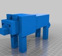 Mini Minecraft 3d Models For 3d Printing Makexyz Com