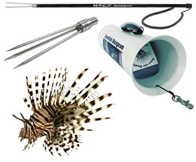 Lionfish Pole Spears and Hunting Gear
