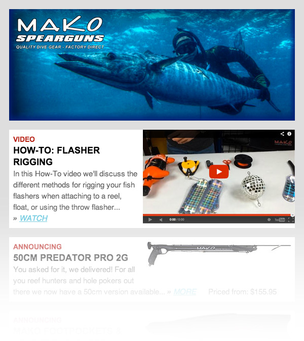 MAKO Spearguns sample newsletter