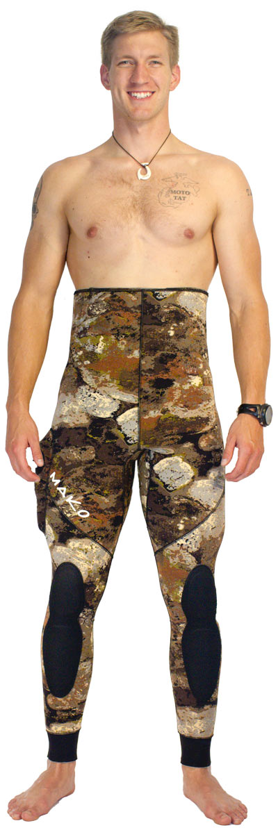 3D reef camo wetsuit - Optional High waist pants