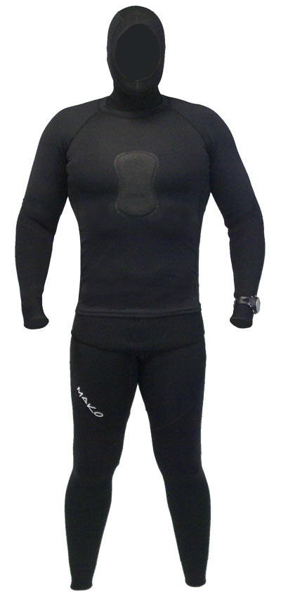 Photo of loading pad rashguard over top Y45 Freedive Suit