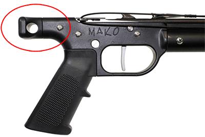AR15 Speargun handle loading butt