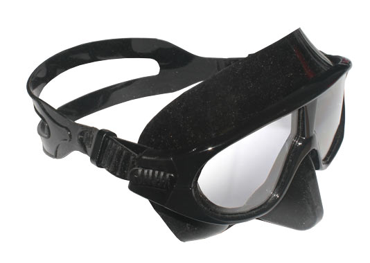 competition and training dive mask with ergonomic head strap