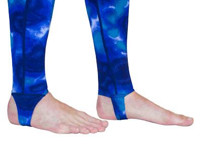 dive skin rashguard pants stirrup